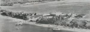 An older aerial view black and white photograph of the Royal Canadian Air Force Station in Ottawa